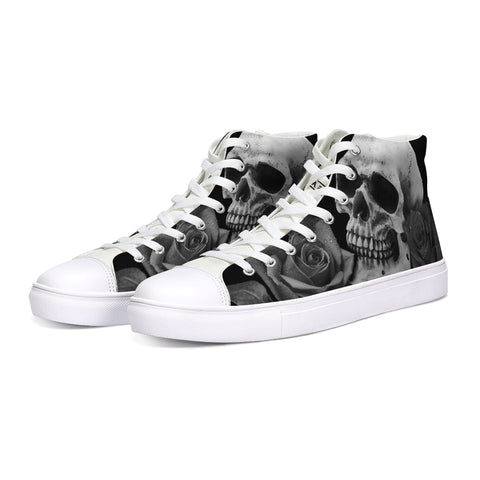 Skull Roses High Tops - Tattoo is Art - Apparel