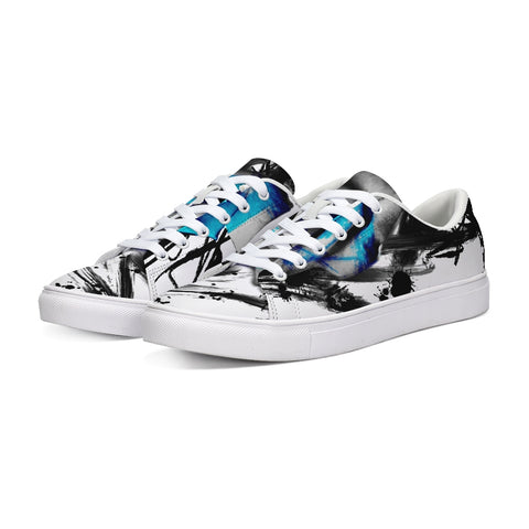 Abstract Rose blue Low Tops - Tattoo is Art - Apparel