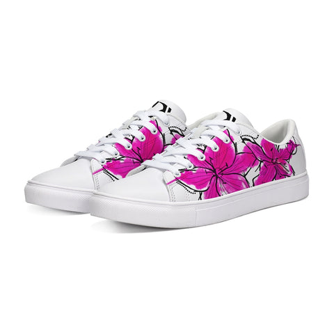 Abstract Watercolor Flower Low Tops - Tattoo is Art - Apparel
