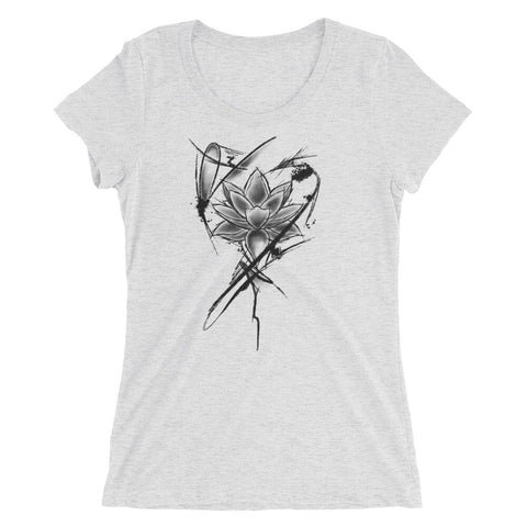 Abstract Lotus Flower - Ladies' short sleeve t-shirt - Tattoo is Art - Apparel