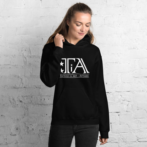 Logo white - Unisex Hoodie - Tattoo is Art - Apparel