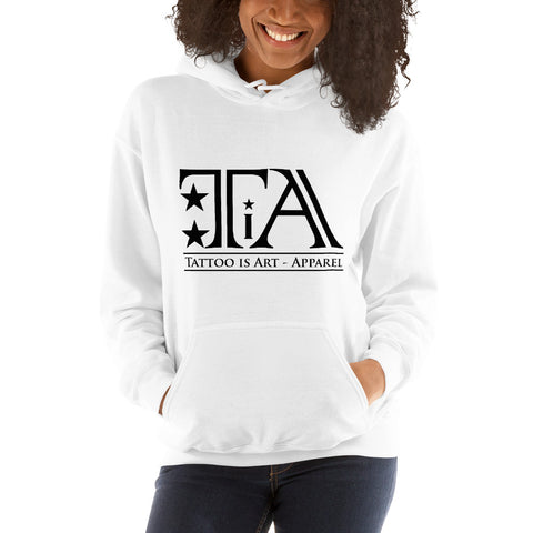 Logo black - Unisex Hoodie - Tattoo is Art - Apparel
