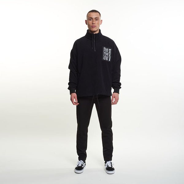 Boy Trippie Cord Sweatshirt - Black/White