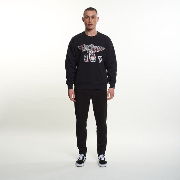 Boy Jigsaw Sweatshirt - Black