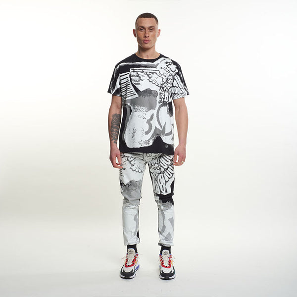 Boy Ink Spray Jogger - Black/White