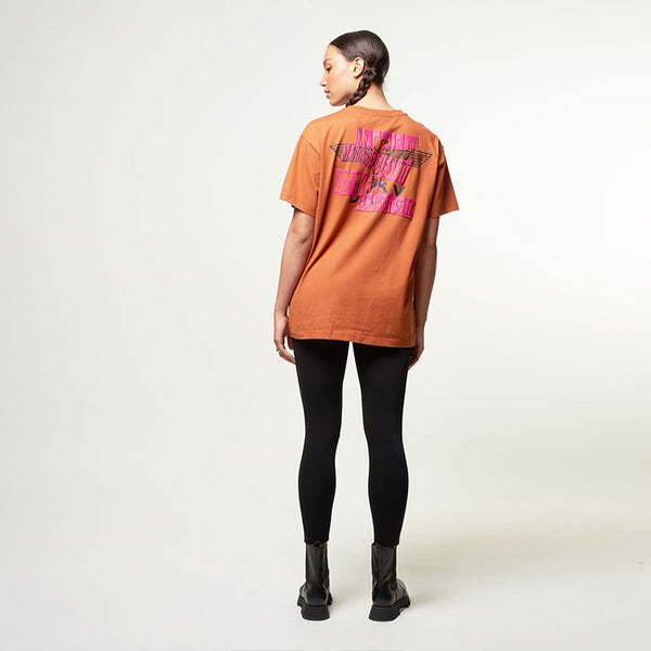 Boy Quote Tee - Rust/Pink