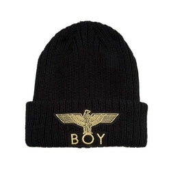 BOY LONDON BEANIE ONE SIZE BOY EAGLE BEANIE - BLACK/GOLD