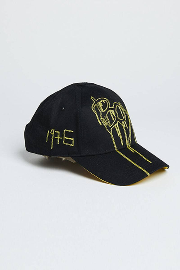 BOY LONDON CAP ONE SIZE BOY DRIP CAP- BLACK/YELLOW