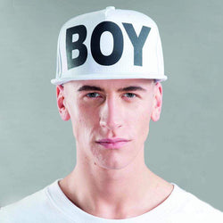 BOY LONDON CAP ONE SIZE / WHITE/BLACK BOY LONDON SNAPBACK