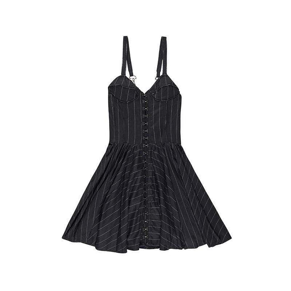 BOY LONDON DRESS XS / STRIPE BOY BY BOY - BONDAGE DRESS