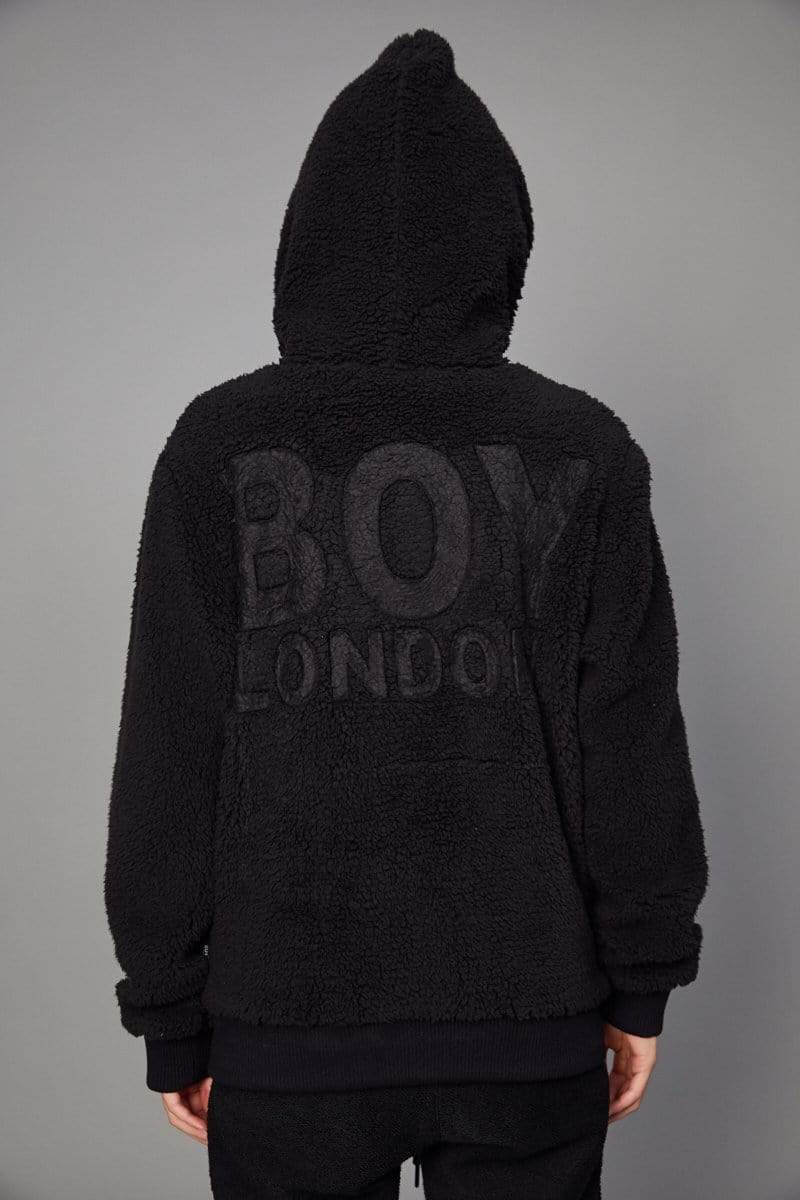 BOY LONDON HOODIES BOY SHERPA ZIP HOODIE