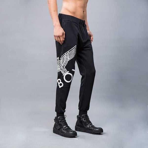 BOY LONDON JOGGERS XS / BLACK/WHITE BOY EAGLE JOGGERS - BLACK