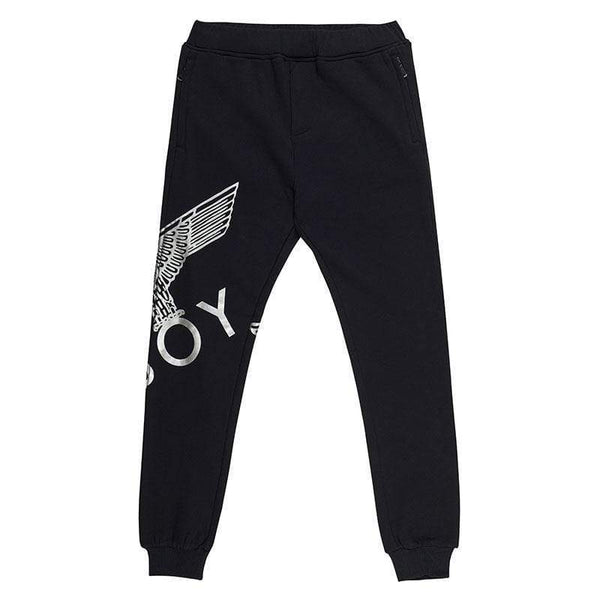 BOY LONDON JOGGERS XS / BLACK/SILVER BOY EAGLE JOGGERS - BLACK
