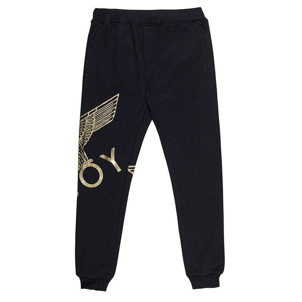 BOY EAGLE JOGGERS - BLACK/GOLD