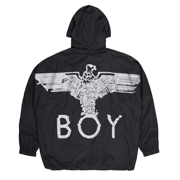 BOY LONDON JOGGERS BOY EAGLE PANEL TRACK JACKET - BLACK/SILVER