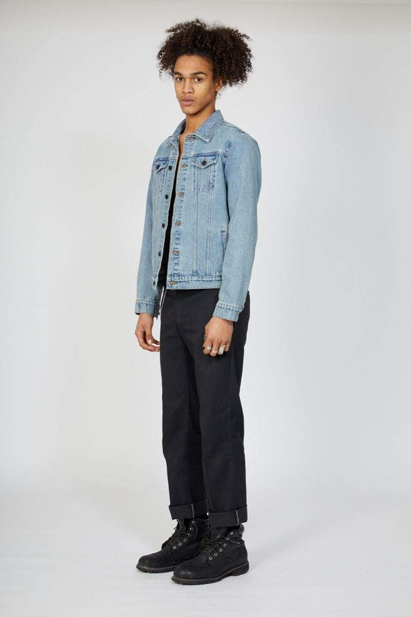 BOY LONDON JOGGERS BOY EMBOSSED DENIM JACKET