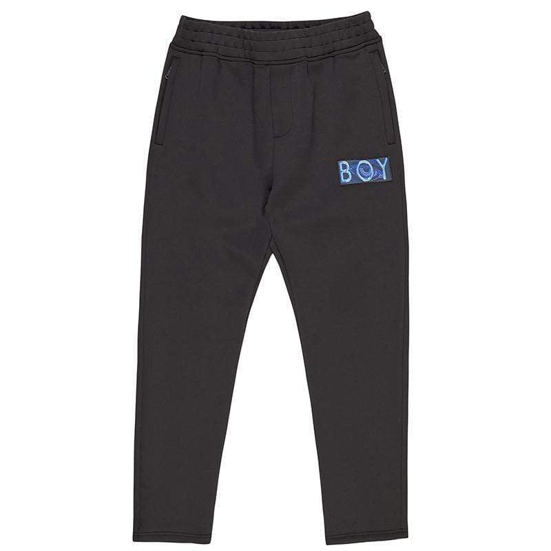 BOY LONDON JOGGERS BOY NEOPRENE PANTS - BLACK