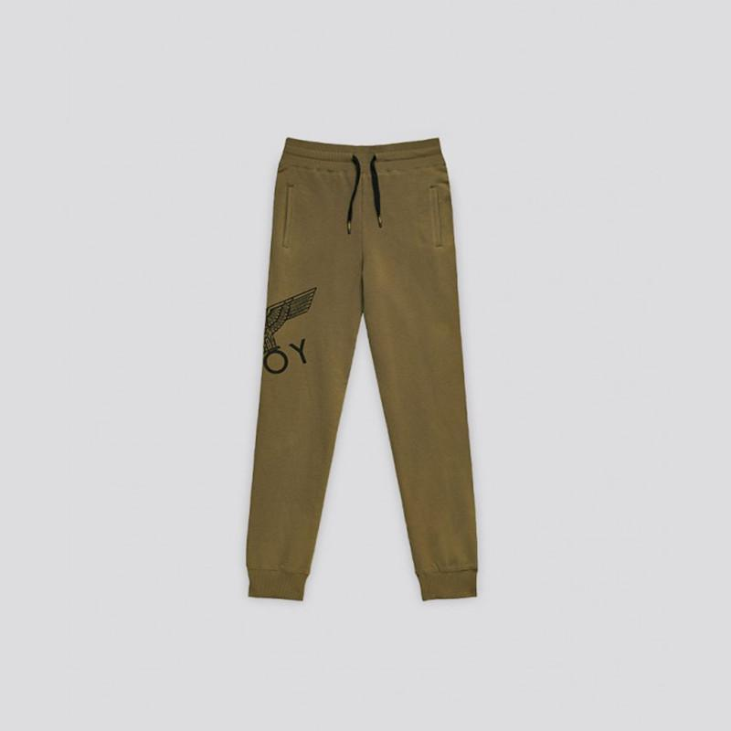 BOY LONDON KIDSWEAR 3-4 YEARS / KHAKI/BLACK BOY EAGLE KIDS JOGGERS