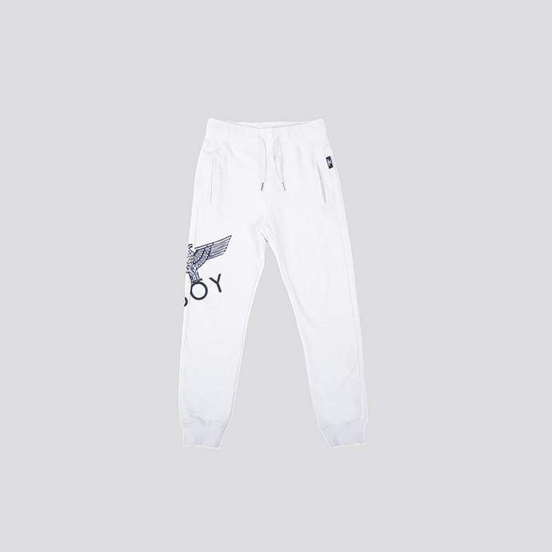 BOY LONDON KIDSWEAR 3-4 YEARS / WHITE/BLACK BOY EAGLE KIDS JOGGERS