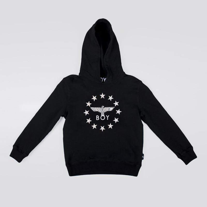 BOY LONDON KIDSWEAR 3-4 YEARS / BLACK BOY GLOBE STAR KIDS HOODIE