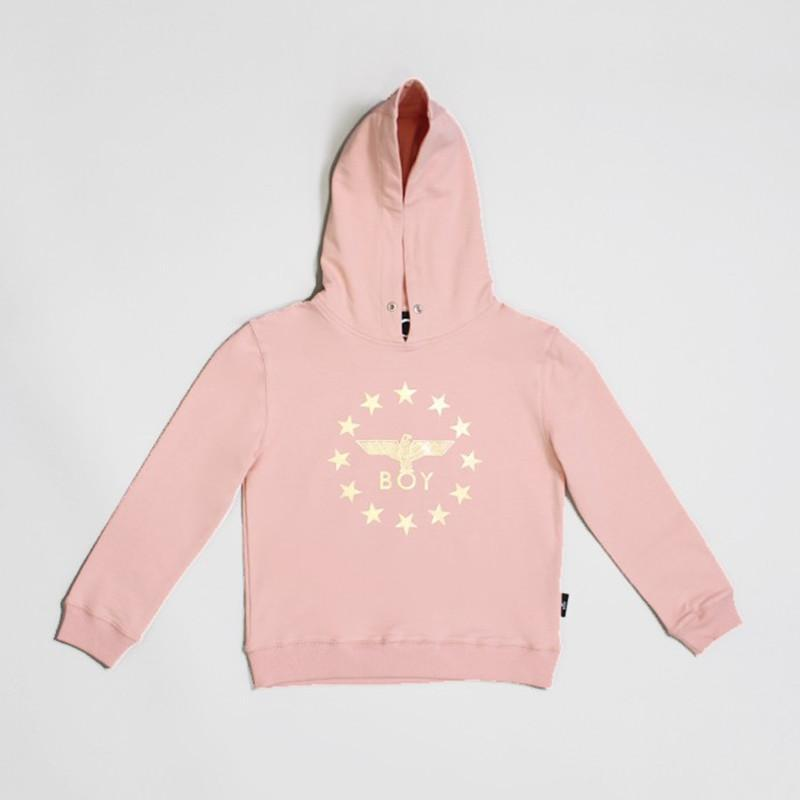 BOY LONDON KIDSWEAR 3-4 YEARS / PINK BOY GLOBE STAR KIDS HOODIE