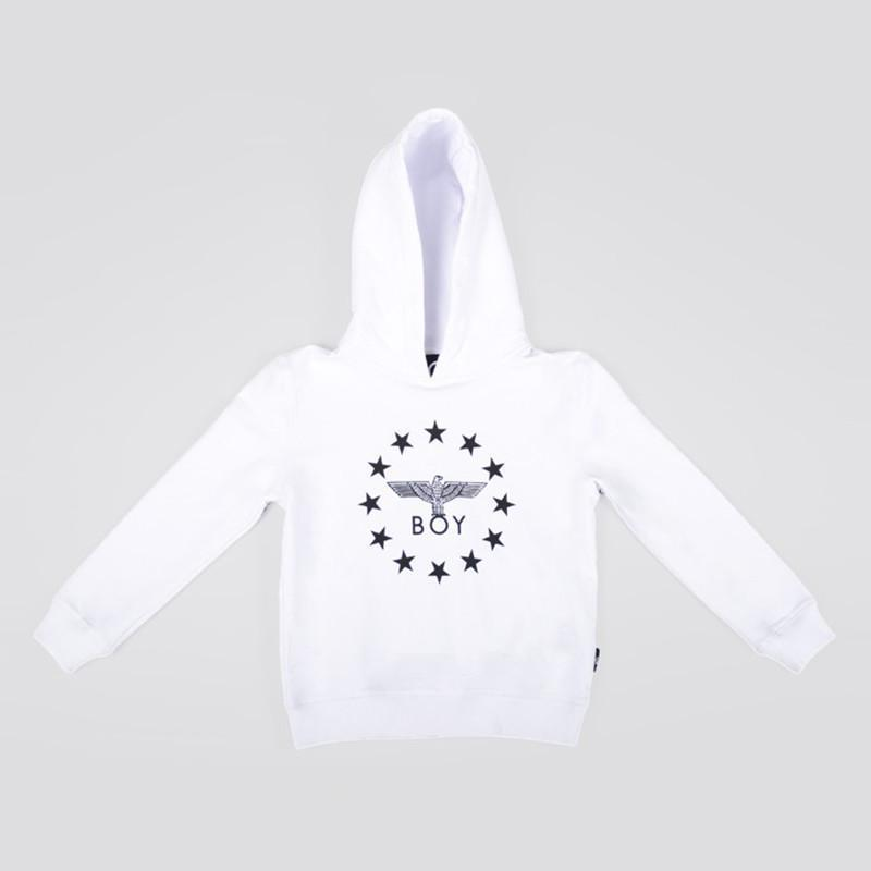 BOY LONDON KIDSWEAR 3-4 YEARS / WHITE BOY GLOBE STAR KIDS HOODIE