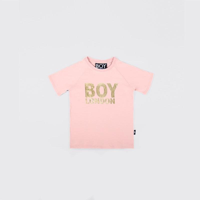BOY LONDON KIDSWEAR 3-4 YEARS / PINK/GOLD BOY LONDON KIDS T-SHIRT