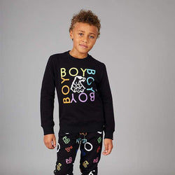 BOY LONDON KIDSWEAR BOY QUADRUPLE KIDS SWEATSHIRT - BLACK