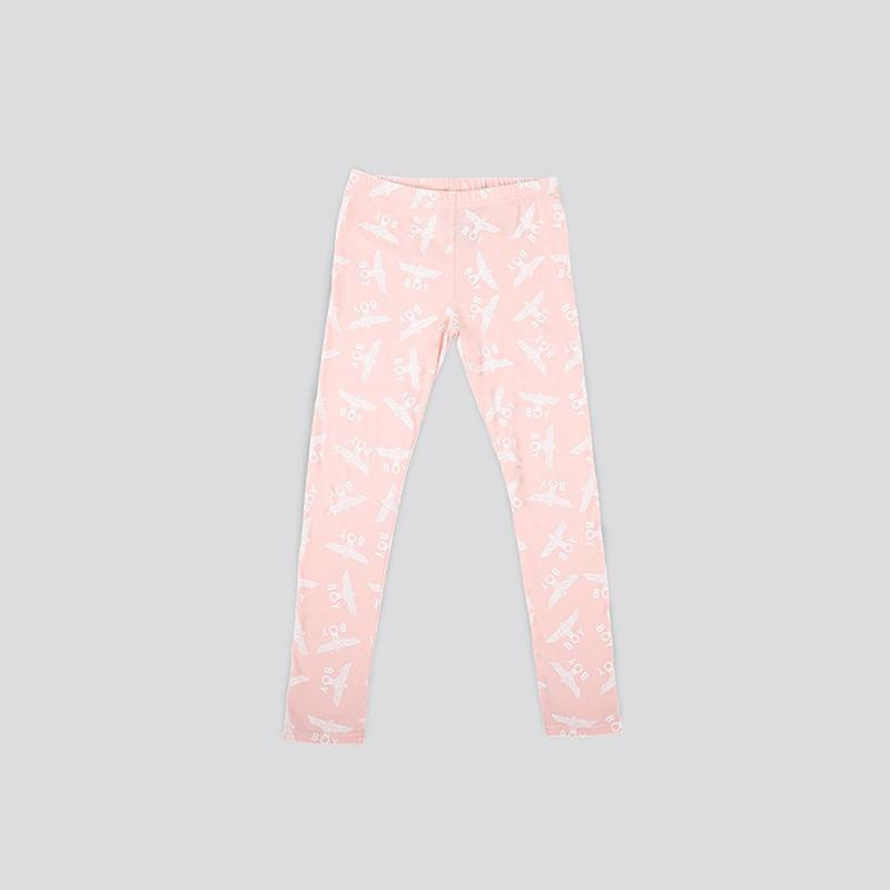 BOY LONDON KIDSWEAR 3-4 YEARS / PINK BOY REPEAT KIDS LEGGINGS