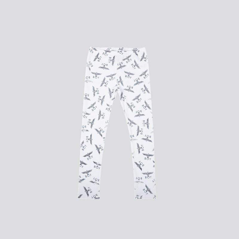 BOY LONDON KIDSWEAR 3-4 YEARS / WHITE BOY REPEAT KIDS LEGGINGS