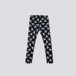 BOY LONDON KIDSWEAR 3-4 YEARS / BLACK BOY REPEAT KIDS LEGGINGS