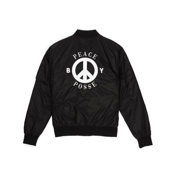 BBSG NYLON BOMBER JACKET BLACK