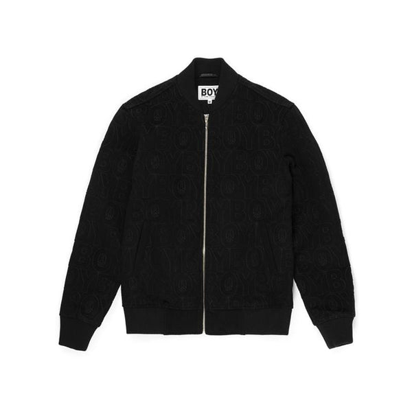 BBSG WOOL VARSITY JACKET BLACK