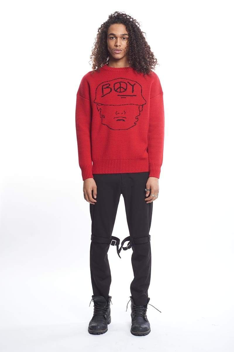 boy-london-shop JUMPER BBSG STRENGTH JUMPER RED