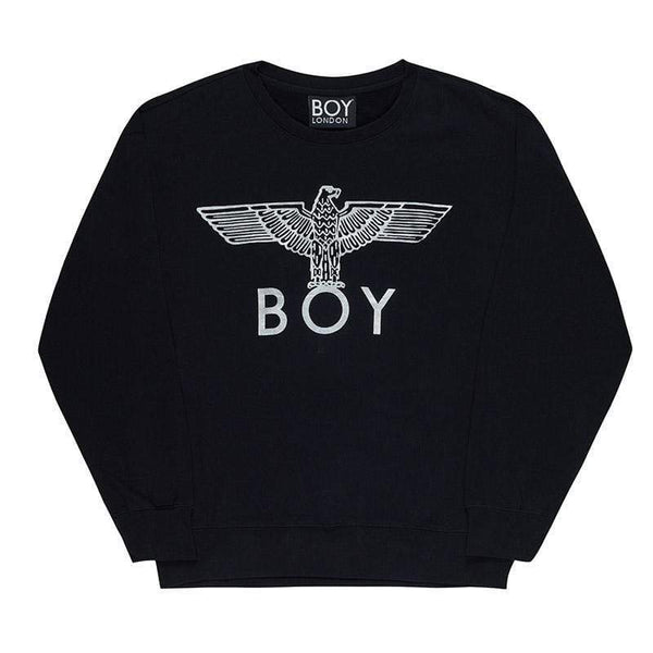 boy-london-shop SWEATSHIRT XS / BLACK/SILVER BOY EAGLE SWEATSHIRT
