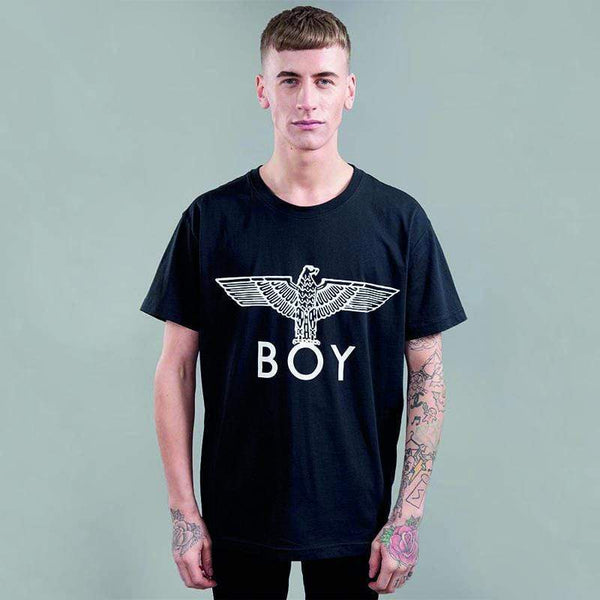 boy-london-shop T-SHIRT XS / BLACK/WHITE BOY EAGLE T-SHIRT