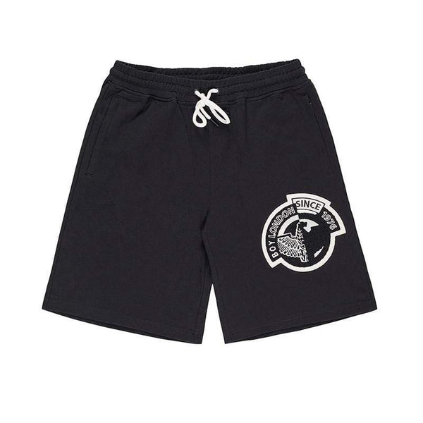 BOY LONDON SHORTS BOY BADGE SHORTS - BLACK