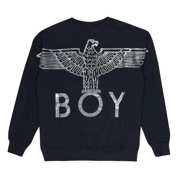 BOY LONDON SWEATSHIRT BOY EAGLE BACKPRINT SWEATSHIRT - BLACK