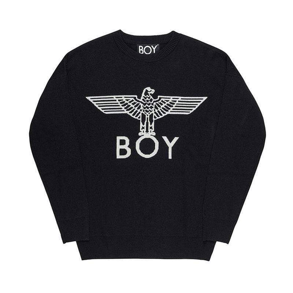 BOY LONDON SWEATSHIRT BOY EAGLE KNITTED JUMPER