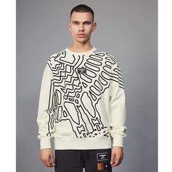 BOY LONDON SWEATSHIRT BOY OUTLINE SWEATSHIRT - OFF WHITE