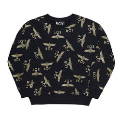 BOY LONDON SWEATSHIRT XS / BLACK/GOLD BOY REPEAT SWEATSHIRT