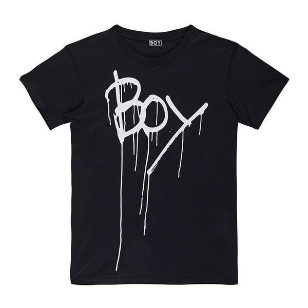 BOY LONDON T-SHIRT XS / BLACK/WHITE BOY BY BOY - BONDAGE TEE