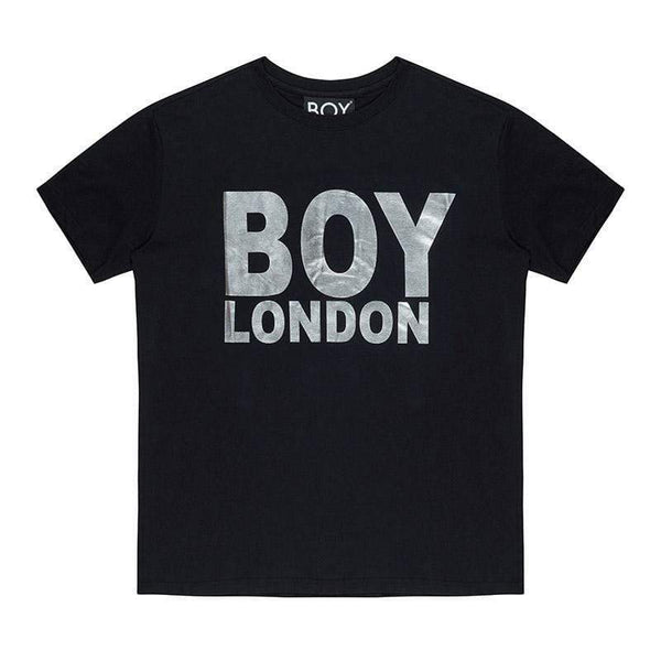 BOY LONDON T-SHIRT XS / BLACK/SILVER BOY LONDON T-SHIRT - BLACK