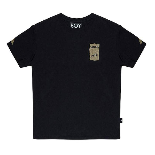 BOY LONDON T-SHIRT BOY TAPE EAGLE BACKPRINT TEE - BLACK