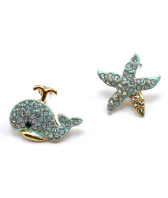 Whale and Starfish Earrings