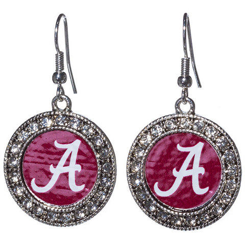 University of Alabama Rhinestone Earrings