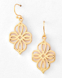 Open Flower Drop Earrings