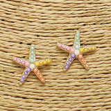 Pastel Starfish Earrings