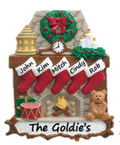 3-6 Family Member Options! | Fireplace Stocking Christmas Ornament