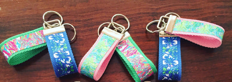 Lilly Pulitzer Inspired Keychain - Small